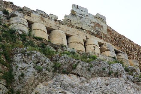 Укрепления, построенные из античных колонн