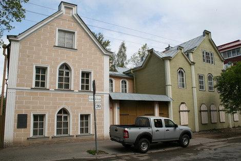 Еленинская ул. Дом адмирала Анжу с флигелем.