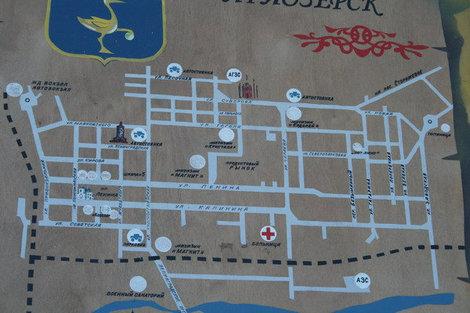 Карта Приозерска на территории Корелы.