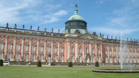 Новый дворец со стороны парка