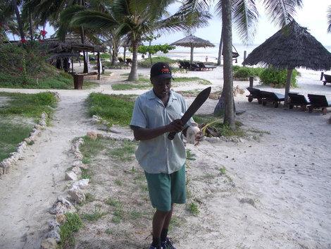 Разделка кокосового ореха. Мы в предвкушении неземного наслаждения