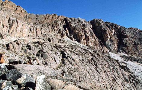 Восточный склон перевала Рохо (5320)
