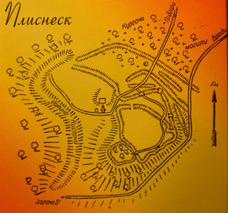 План древнего Плисненска