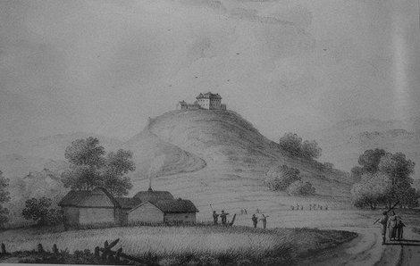 Самое старое изображение замка (1781, Я.Мюнц)