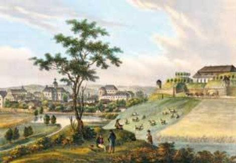 Золочевский замок на старом рисунке