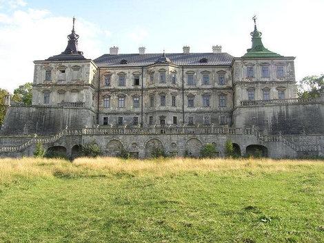 Замок в Подгорцах, садовый фасад