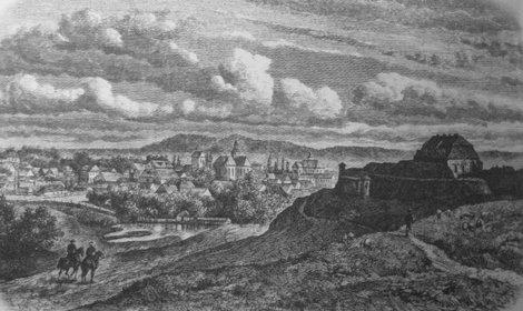 Золочевский замок на старой гравюре