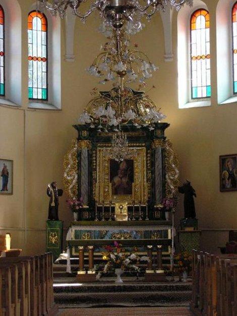 Интерьер костела в Бобрке