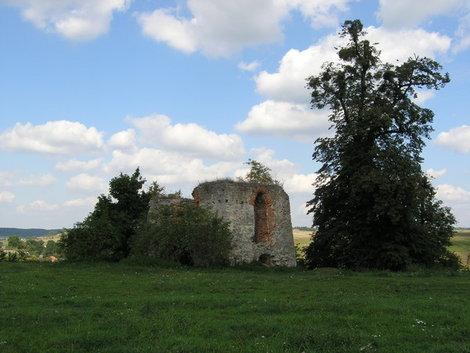 Руины оборонной башни в Свирже