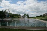 Фонтан на реке Инсар возле парка.