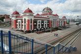 Таким я увидела ж/д вокзал с моста, когда приехала в Саранск.