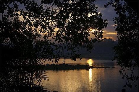 Утро на озере Тана.