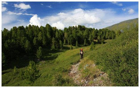 Верхняя конная тропа от перевала Кара-Тюрек до Кучерлинского озера