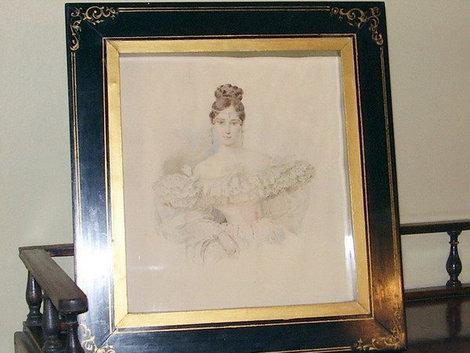 Портрет любимой жены А.С.Пушкина Натальи Гончаровой, кстати она родилась в п.Знаменка Тамбовской обл., где живут мои бабушка с дедушкой.