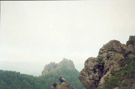 Вид на гору Индюк со скалы Индюшка