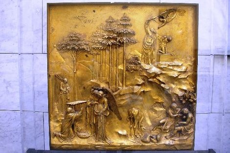 Рельеф к воротам Баптистерия Гиберти