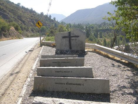 Здесь погибли охраники Пиночета