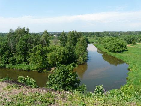 Вид с территории монастыря (Киржач)