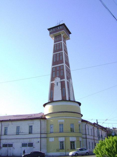 Символ Рыбинска. Пожарная каланча в стиле модерн. Построена в 1912 году из монолитного железобетона
