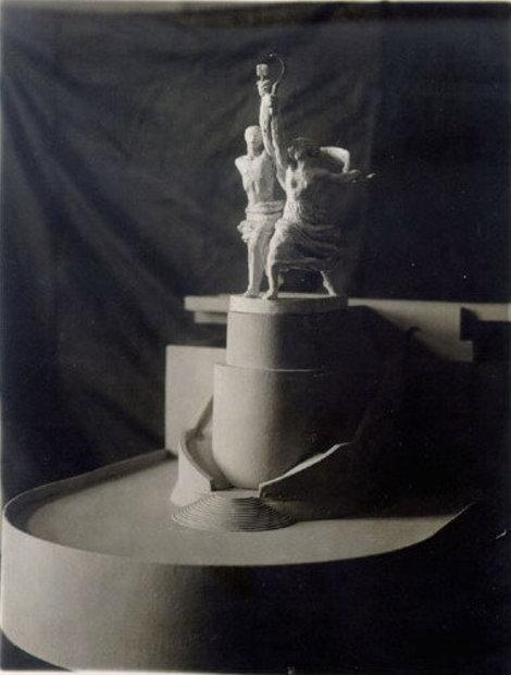 Рыбинск. Гипсовая модель памятника