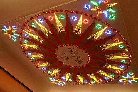Рыбинск культурный. Декоративное панно на потолке Рыбинского театра кукол