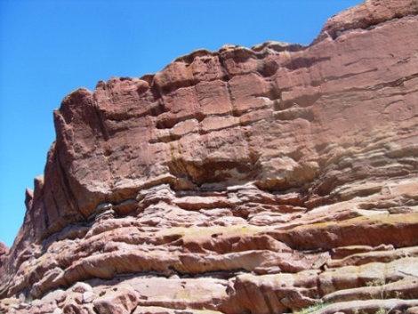 Красные скалы.