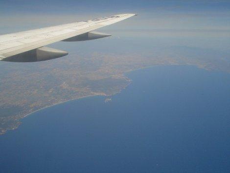 Подлетаем к Барселоне