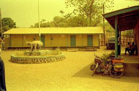 Двор полицейского участка