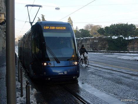 Падуя. Трамвай-монорельс