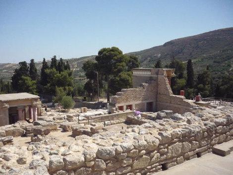 Руины Кносского дворца на острове Крит
