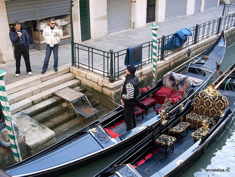 Венеция. Гондольеры