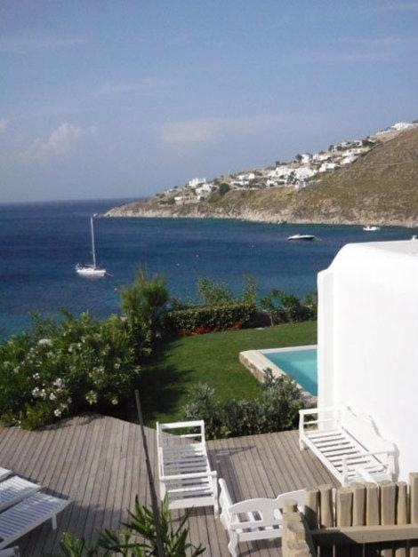 Вид на море из отеля Mykonos Blu, Миконос