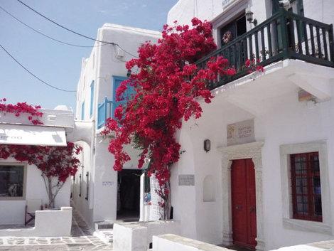 Живописные улицы Хоры на острове Миконос