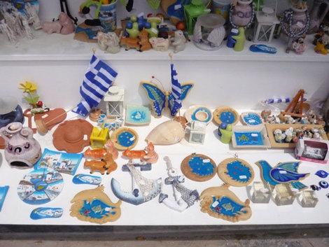 Сувенирная лавка на острове Миконос