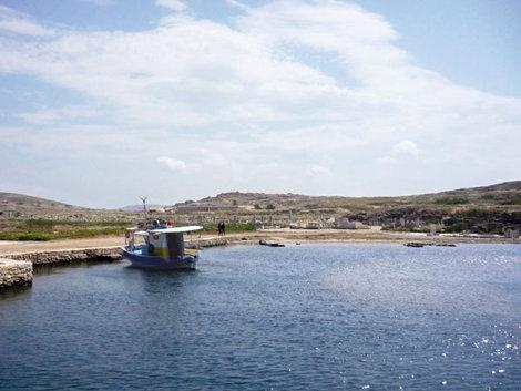Причал у священного острова Делос