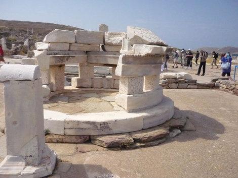 Руины древнегреческого города на Делосе