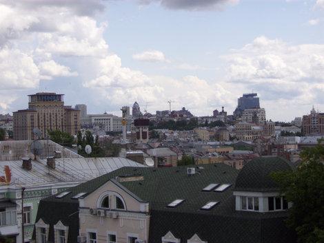 Вид с колокольни на город