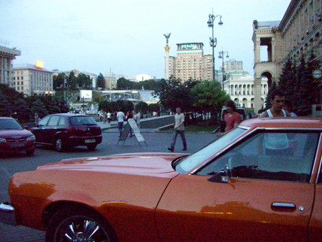 Хоть что-то оранжевое на Майдане