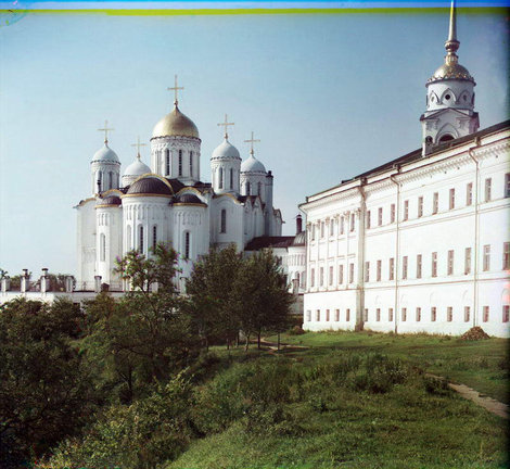Прокудин-Горский. Владимир, вид на Успенский собор