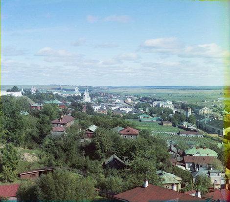 Прокудин-Горский. Владимир, вид от Успенского собора.