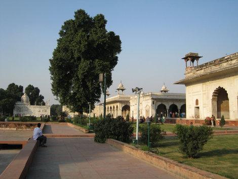 Дели. Ред Форт. Панорама дворцового комплекса