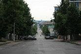 Так выглядит начало улицы Московской. То с горы, то в горку.