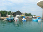 Порт в Царево. Вид с борта прогулочной лодки