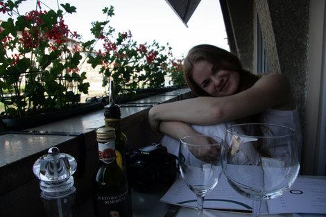 ужин в ресторане на берегу Арно