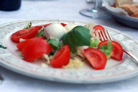ужин на Piazza del Campo