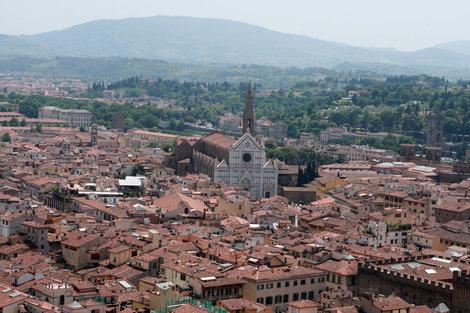 вид на Флоренцию с кампанилы Дуомо