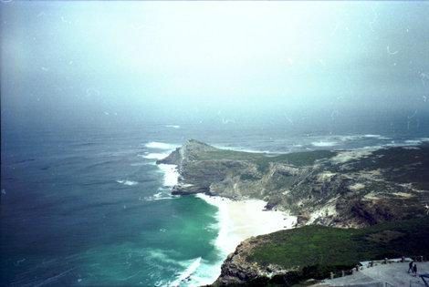 Мыс Доброй Надежды. Слева — Индийский океан, справа — Атлантический...