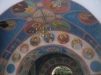 Росписи в арке, ведущей к Успенскому собору и пещерам
