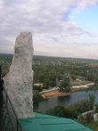 Вид с меловой скалы на Североский Донец и город