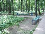 Скамеечки в парке